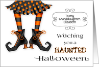 Witching you a Haunted Halloween Custom Relationship Text card