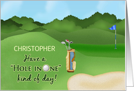 Golf Birthday Name Specific - Hole in One card