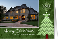 Merry Christmas from New Home Tree Custom Photo / Date card