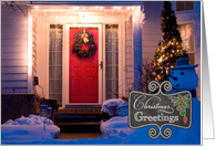 Chalkboard - New Home Christmas Greetings custom photo card