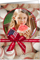 Sports Theme Birthday - Baseball custom photo card