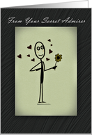 Secret Admirer Romance, Love, Hearts and Flower card
