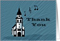 Thank You for Church Musician card