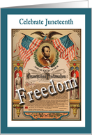 Celebrate Juneteenth - Emancipation Proclamation card