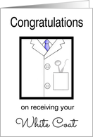 Dental White Coat Congratulations -White Coat, Dental Tools card
