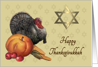 Happy Thanksgivukkah - Turkey & Star of David card