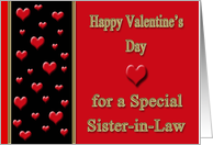 Valentine for Sister-in-Law - Hearts card