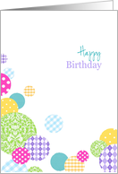 Colorful & Bright abstract Happy Birthday card for her card