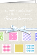 Congratulations on the birth of your new granddaughter - girly pastels card