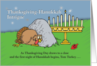 Thanksgiving-Hanukkah Intrigue card