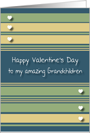 Happy Valentine's Day Grandchildren card