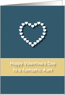 Fantastic Aunt Blue Tan Heart Valentine's Day card