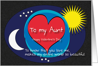 Aunt Night Day World Beautiful Valentine card