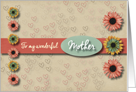 Flowers and hearts Valentine for Mother card