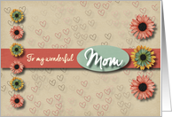 Flowers and hearts Valentine for Mom card