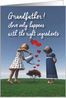 Grandfather Girls giving the right ingredients to love Valentine card