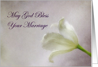 God's Blessing on Marriage Tulip card