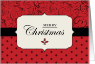 Red and Black Vintage - Merry Christmas card