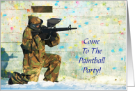 Paintball Party Invitation/Paintballing card