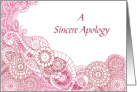 A Sincere Apology From Both Of Us/Abstract Circles card