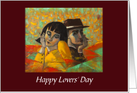 Brazil Holiday/Happy Lovers' Day/Man and Woman card