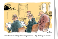 Funny congratulations on a lawyer's birthday - courtroom cartoon card