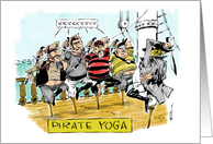 Amusing group happy birthday to yoga classmate cartoon card
