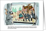 Funny happy birthday to lawyer in the pack cartoon card