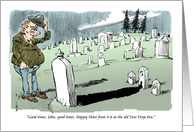 Amusing graveyard good times happy hour invitation card