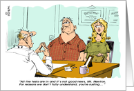 Amusing fibromyalgia and feel better support cartoon card