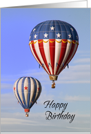 Birthday Hot Air Balloon for the Adventurer card