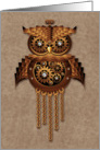 Steampunk Owl Vintage Style card