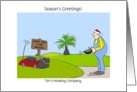From Grass Cutting Service Customizable Christmas Card, Funny Gardener card