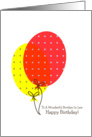 Brother In Law Birthday Cards, Big Colorful Balloons card