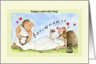 Customizable Lupercalia Day Cards, Love Music Wine card