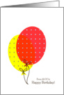 From All Of Us Birthday Cards, Big Colorful Balloons card