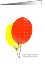 Employee Birthday Cards, Big Colorful Balloons card