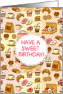 Birthday Card - cakes and pastries card