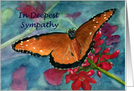 Butterfly Floral Sympathy Card