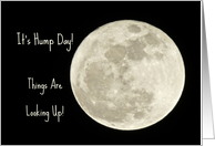 Hump Day Celebration -- Full Moon Against Black Sky card