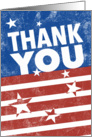 Big Thank You for Veterans Day card