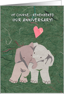 Sweet Anniversary Elephants for Partner card