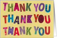 Colorful Thank Yous card