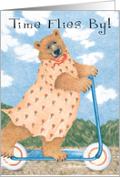 Bear on Scooter Birthday Card