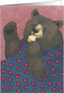 Bear with Cupcake Birthday Card