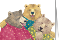 Laughing Bears Birthday Card