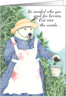 Bear with Berries Birthday Card