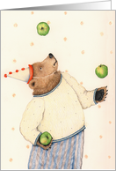 Juggling Bear Birthday Card