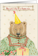 Bumbling Bear Birthday Card