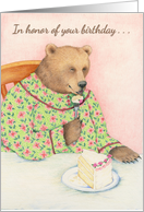 Piece of Cake Bear Birthday Card
